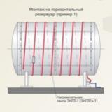 Ленточный нагреватель, ЭНГЛ 1 2, гибкий нагревательный, 60 ватт на метр