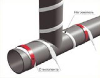 Греющий кабель для труб, обогрев труб, ЭНГЛ 2Т 0, 12 метров, внешний