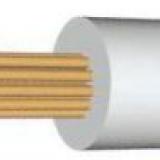 Провод термостойкий, термостойкий кабель, ПРКА 2 5, ПРКА 1 х 2.5 мм2